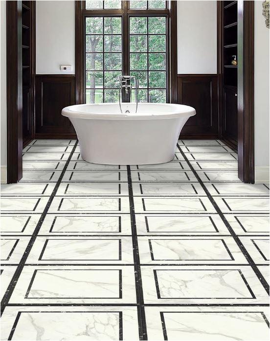 bold geometric floor tile