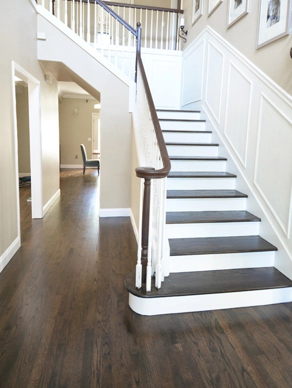 When It Came To The Stain Choice For The Floors, I Knew I Wanted Something  In The Walnut Or Jacobean Family. I Was Adamant About Not Having Any Yellow  Or ...