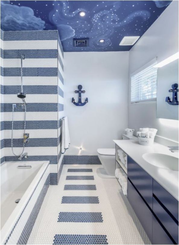 Bathroom Design Ideas With Stripes ~ Stripes in the shower centsational style