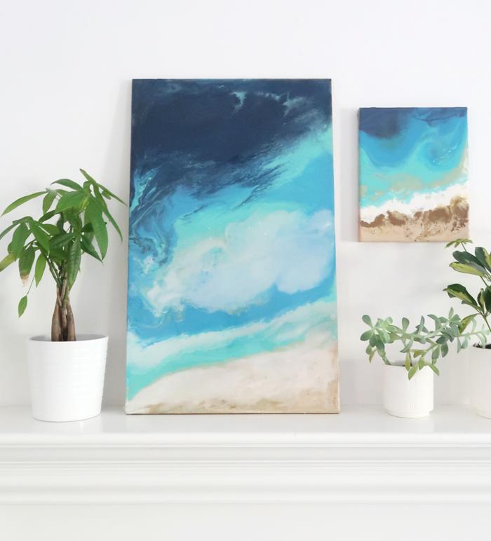 DIY Ocean Inspired Resin Art | Centsational Style