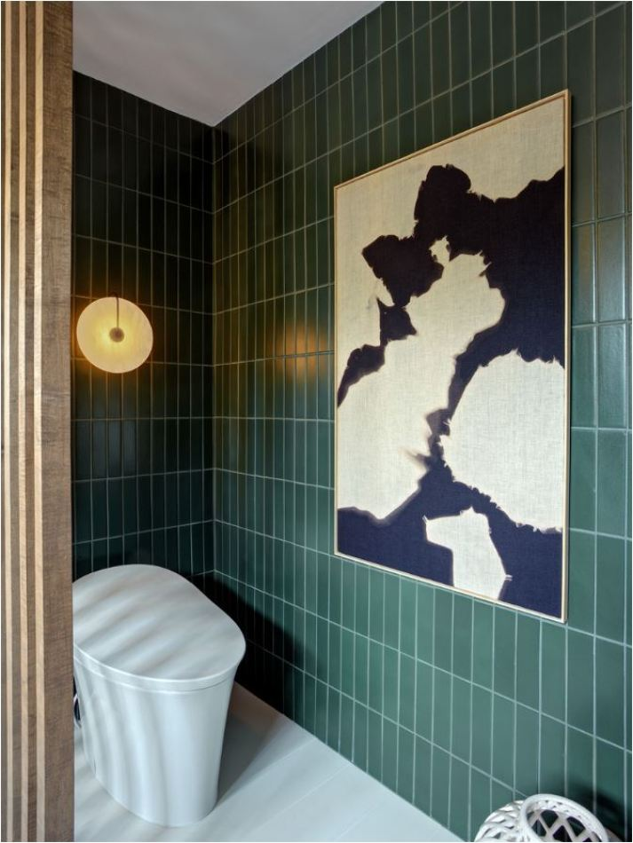 Bold Colorful Bathroom Tile Centsational Style