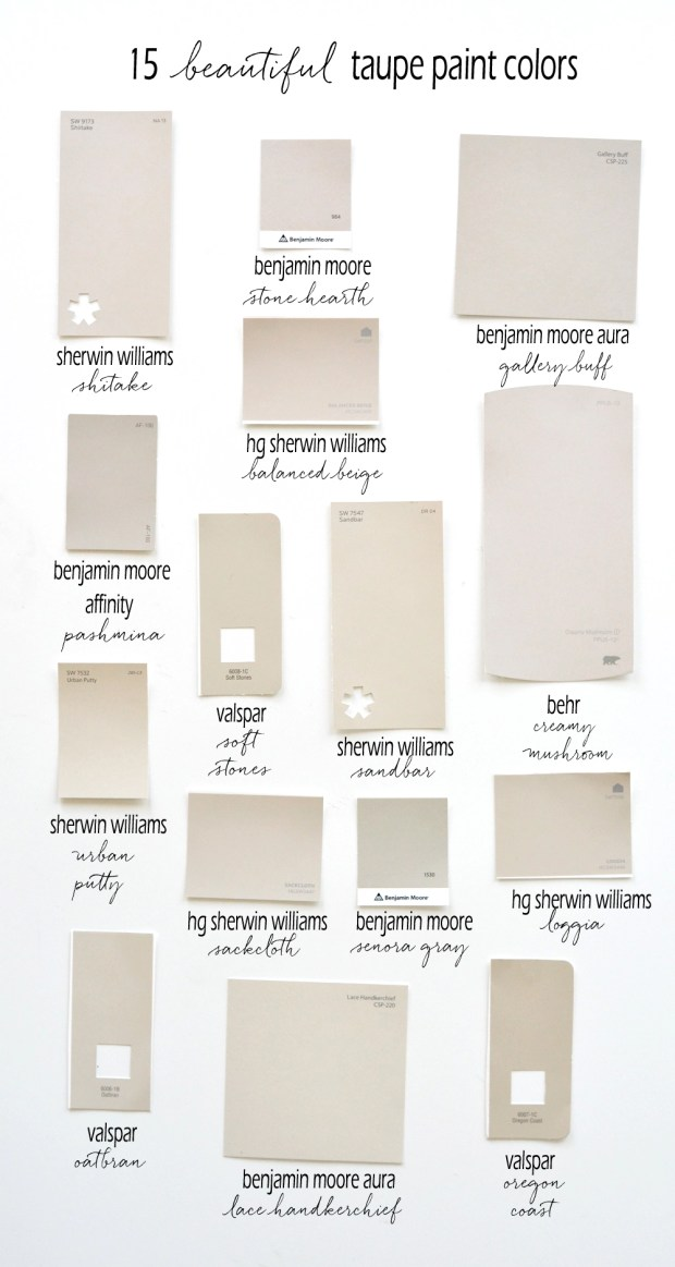 Taupe Paint Colors Living Room: 15 Beautiful Taupe Paint Colors