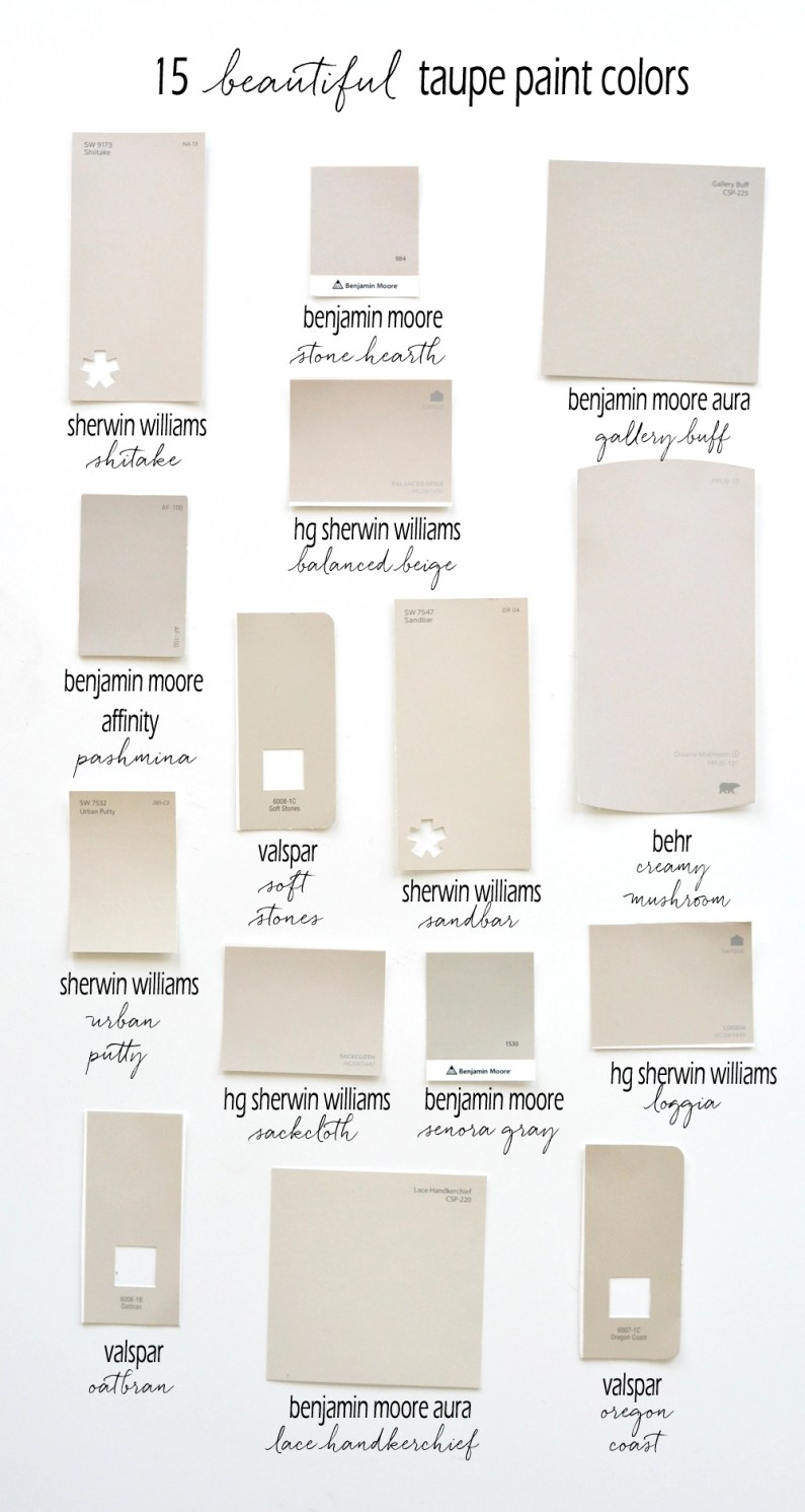 15 Beautiful Taupe Paint Colors Centsational Style