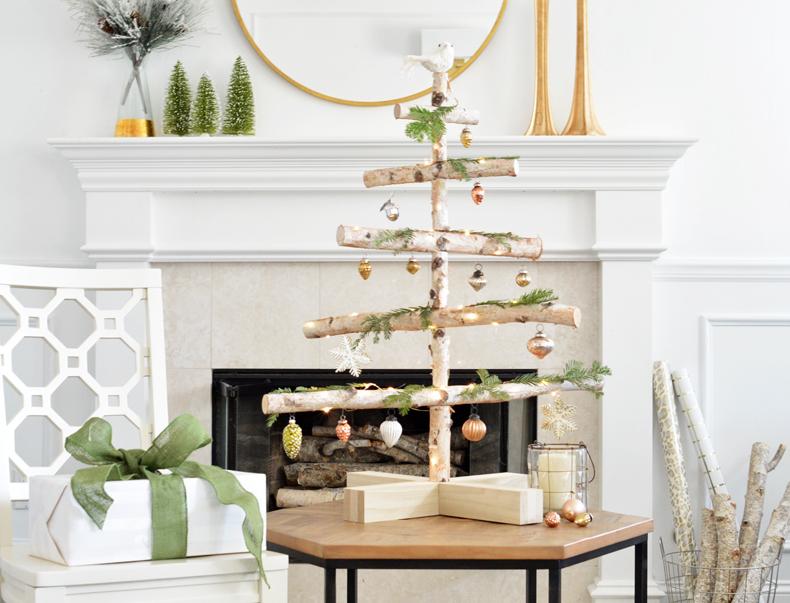 DIY Birch Holiday Tree, Wustoo