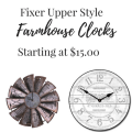 Fixer Upper Style Farmhouse Clocks