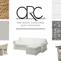 One Room Challenge Week Two:  Vision Boards for Our Farmhouse Style Family Room