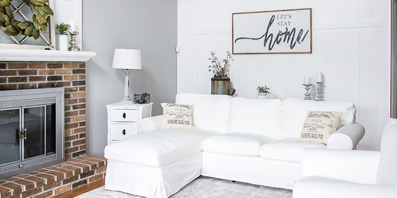 One Room Challenge: Farmhouse Style Family Room Reveal!