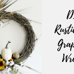 DIY Rustic Fall Grapevine Wreath