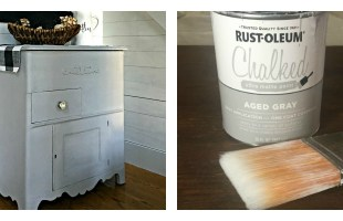 Easy Furniture Makeover with Rustoleum Aged Gray Chalk Paint