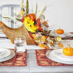 DIY Thanksgiving Cornucopia