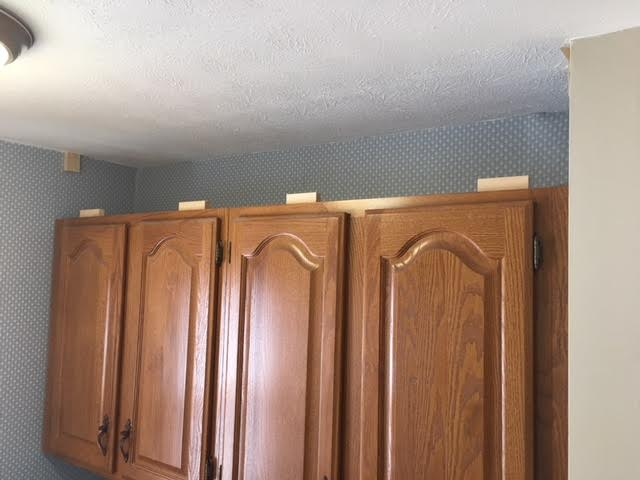 How To Extend Your Cabinets To The Ceiling In Under An Hour For  Or Less