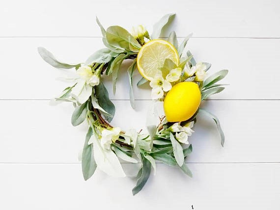 farmhouse lemon decor wreath