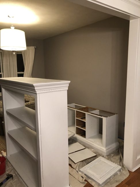 How We Turned a   Dining Hutch into an Office Bookcase