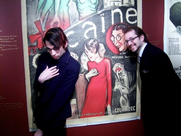 Jack and I posed in front of our cocaine-addled portraits.