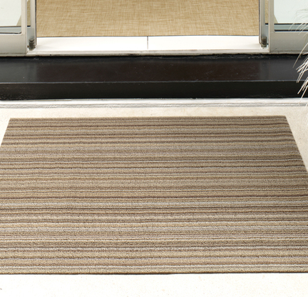 Chilewich Shag Floor Mat In Skinny Stripe The Century House Madison WI