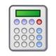 calculatrice, icône de la section prix de revient de la recette