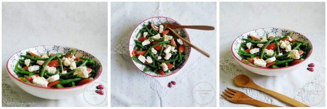 Salade de haricots verts, tomates cerises et feta