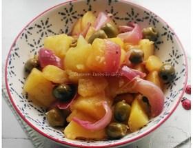 Tajine de pommes de terre olives et citron
