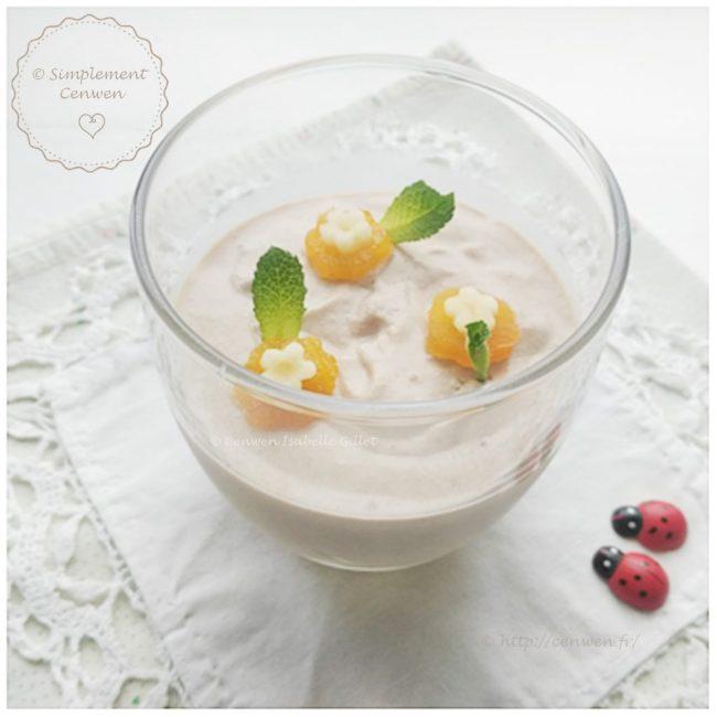 Mousse banane, spéculoos et tofu soyeux : recette Weight Watchers gourmande et délicate à base de banane, de spéculoos et de tofu soyeux