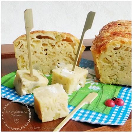 Cake salé courgette, olives et fromage de chèvre