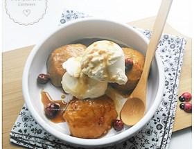 Pommes au caramel et au gingembre ~ Cuisson à la mijoteuse