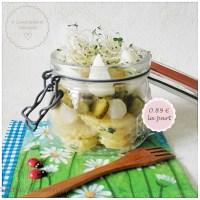 Salade composée : pommes de terre, cornichons, œuf dur et ciboulette