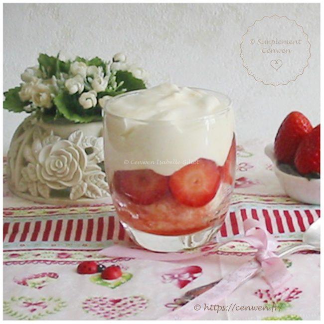 Tiramisu aux fraises