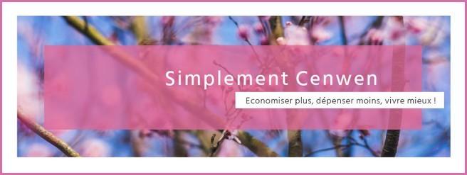 Bannière du blog Simplement Cenwen, blog de recettes économiques pour petit budget et fins de mois difficiles