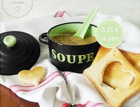 """Soupe de lentilles au cumin ~ recette facile, économique et gourmande ! Une recette réconfortante, spéciale """"Fins de Mois Difficiles"""" pour bien manger sans ruiner son portemonnaie. #FDMD #VivreMieuxAvecPeu"""