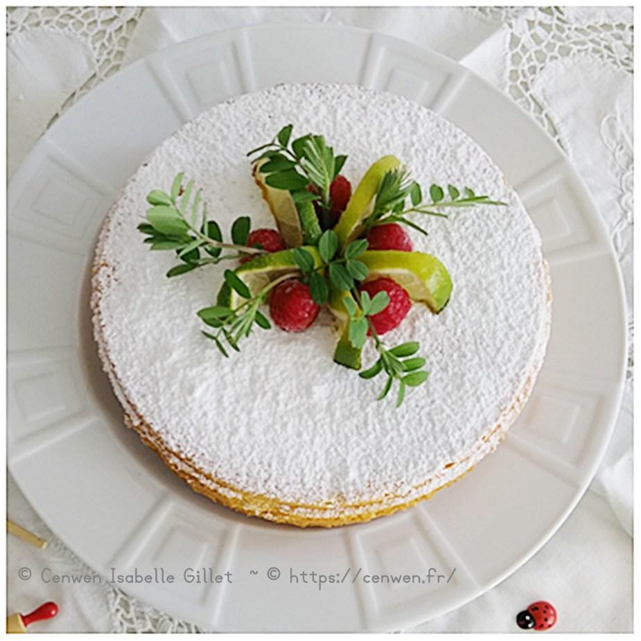 Gâteau moelleux au citron vert ~ Recette gourmande et facile de gâteau moelleux au citron vert, idéale pour le goûter ou le dessert.