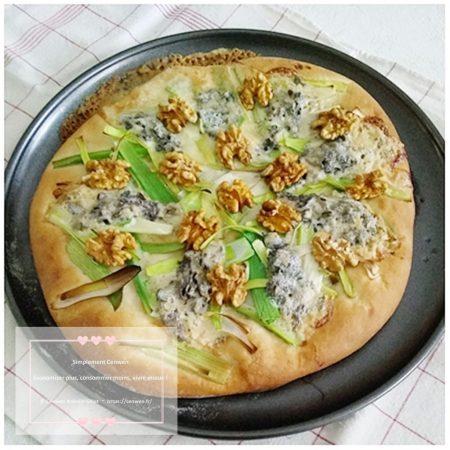Tarte briochée aux poireaux et Saint Agur ~Une pâte moelleuse, une garniture de caractère pour une recette gourmande. #FDMD #VivreMieux