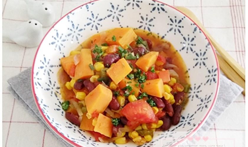 Chili végétarien à la patate douce