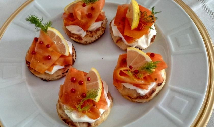 Blinis et gravlax de carottes