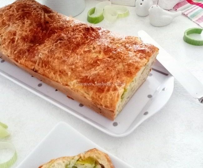 Cake aux poireaux et au Bleu d'Auvergne