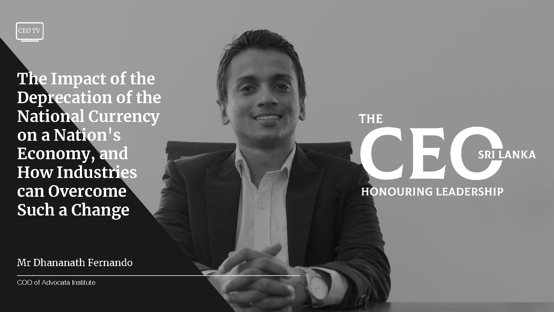 An Interview with Dhananath Fernando, COO of Advocata Institute.