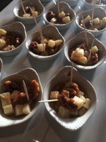 Marinated Manchego Cheese with Tomato Pulp, Roasted Walnuts and Rosemary Olive Oil
