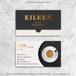 Premade Business Cards - Coffee