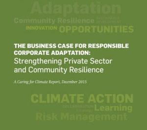 Business Case for Responsible Corporate Adaptation