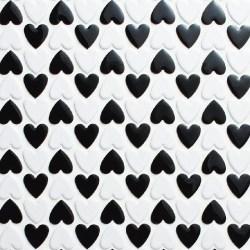 Heart 20A, 20B<br>Black & White Checker