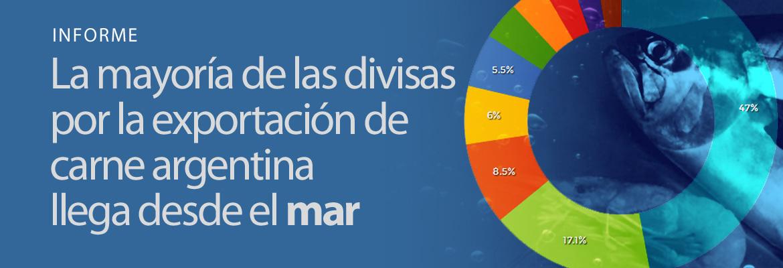 La mayoría de las divisas por exportaciones de carne argentina llega desde el mar