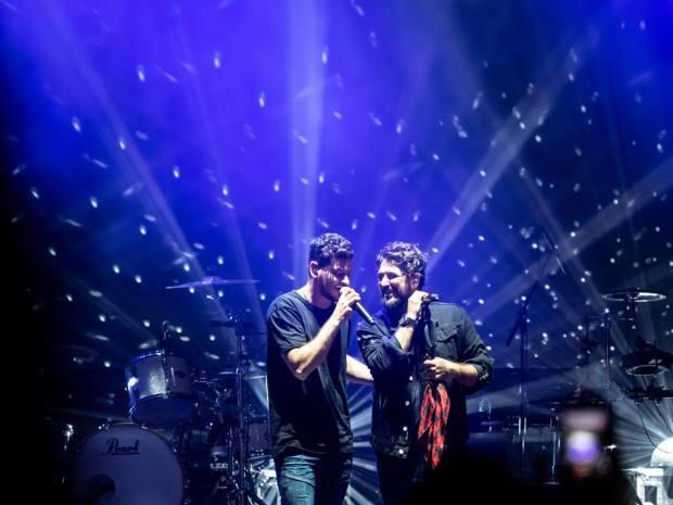 Cepeda y Antonio Orozco en Zaragoza, el 10 de octubre de 2018 (Fuente: Facebook Espacio Zity)