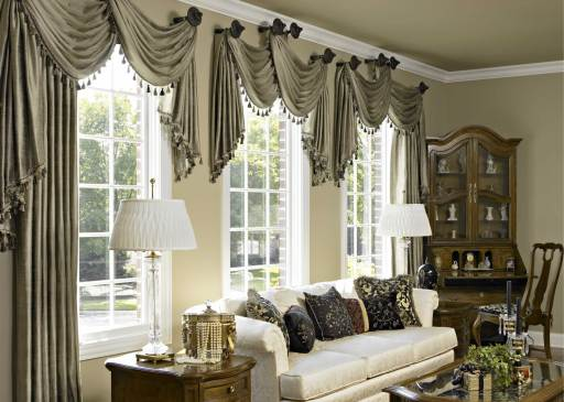 10 Curtain Ideas For An Elegant Living Room within [keyword
