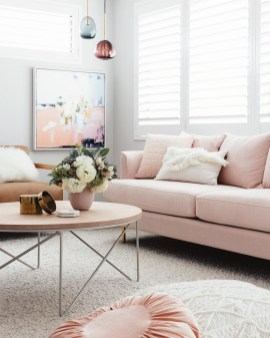18 Chic Blush Pink Sofas How To Style Them within 14+ Best Living Room Couch