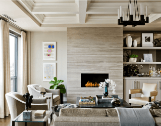 22 Beautiful Living Rooms With Fireplaces in ucwords]