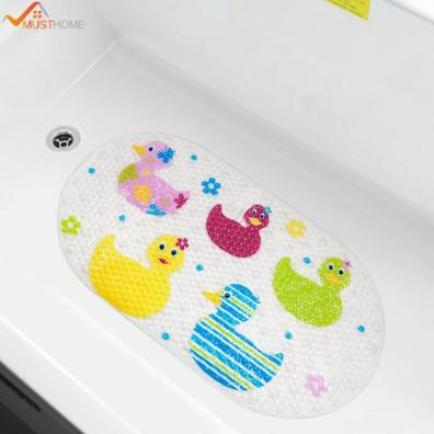 39cmx69cm Ba Bath Mat Anti Slip Pvc Cartoon Bathmats Tub Mat With Suction Cup Toddler Ducks Bathtub within 29+ Old Fashioned Bath Tub Mat