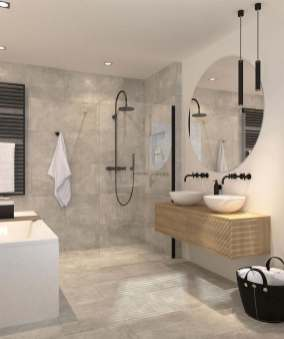 59 Simply Chic Bathroom Tile Ideas For Floor Shower And in 18+ Magnificent Bathroom Floor Tiles Design