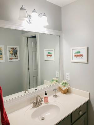 Affordable Pretty Bathroom Light Fixtures The Turquoise Home for 29+ Perfect Bathroom Lighting