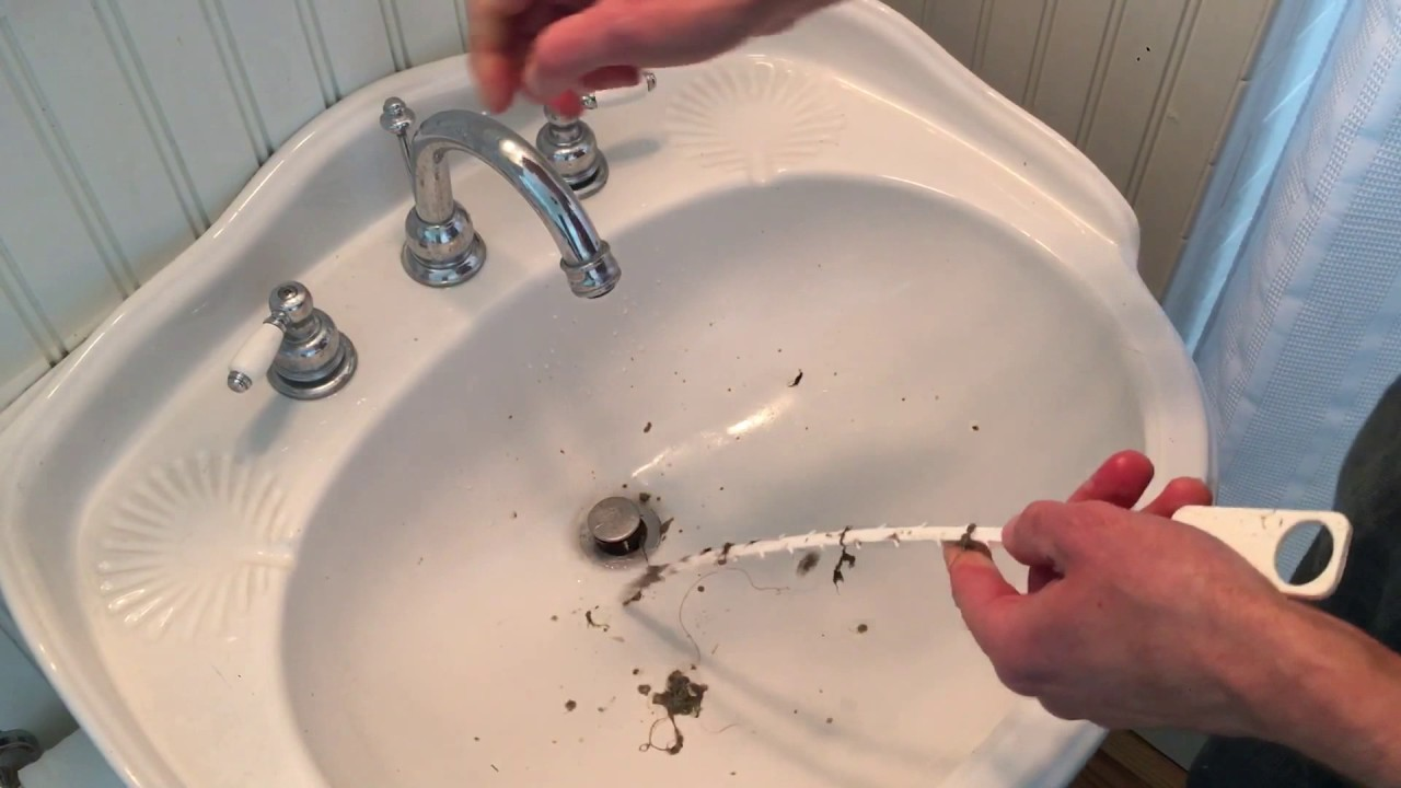 An Easy Way To Unclog A Sink Or Shower Drain Zip It Drain ...