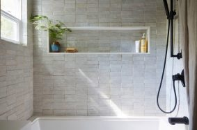 Bathroom Trends Are Stacked Tiles The New Subway Tile with 14+ How To Tile A Bathroom Floor With Plank Tiles
