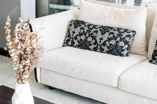 Beautiful Pillows On Sofa Decoration In Living Room Interior for 14+ Unique Living Room Pillows